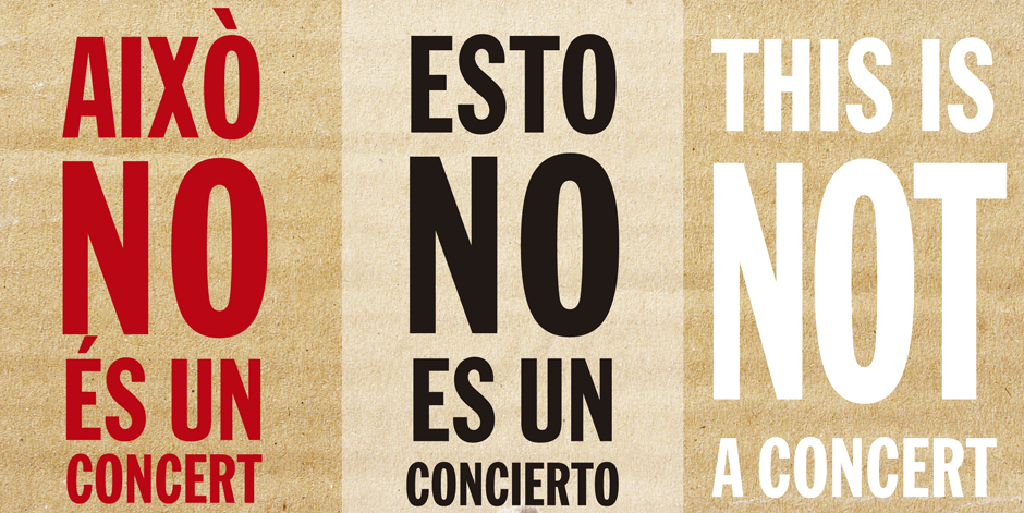 Això no és un concert! És un crit per dir ningú dormint al carrer!