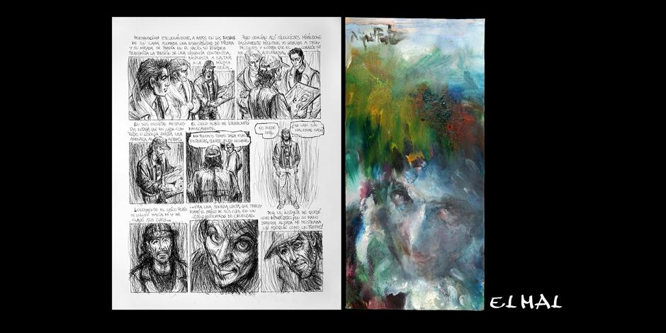 L'artista Miquel Fuster exposa els seus dibuixos a la Facultat de Belles Arts