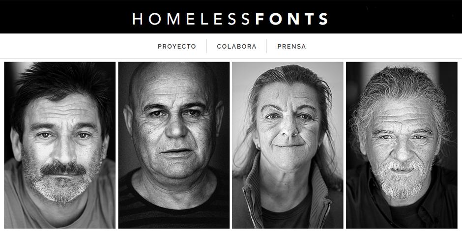 La lletra de l'Ana Maria i l'Stere se sumen al projecte Homelessfonts