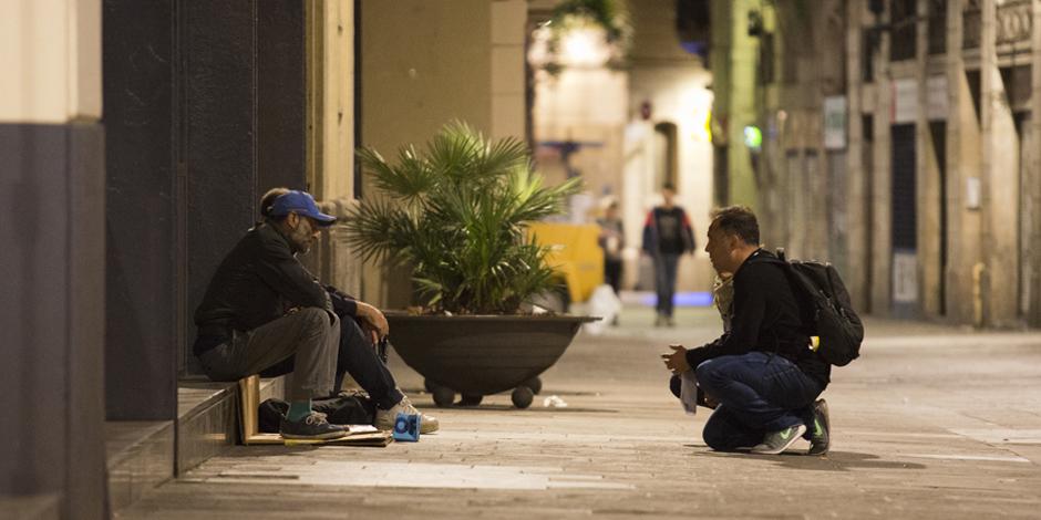 La vulnerabilitat de les persones que viuen al carrer a Barcelona