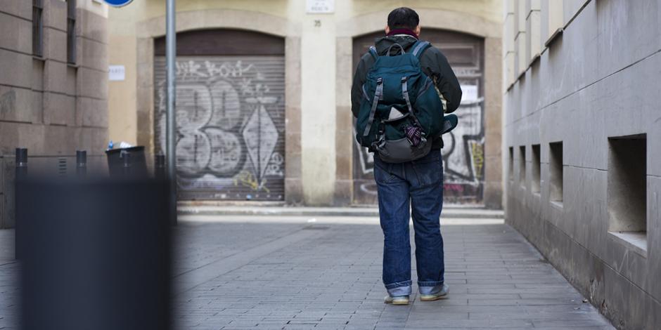 Vivir en la calle y tener que desplazarse cada día para cubrir las necesidades básicas