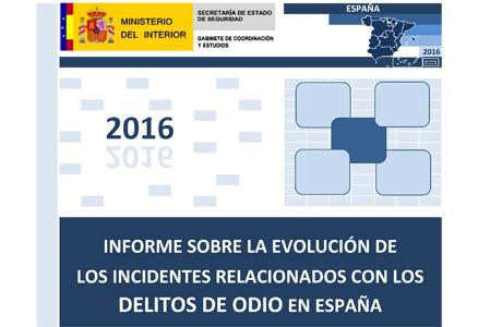 Informe sobre delitos de odio en España 2016