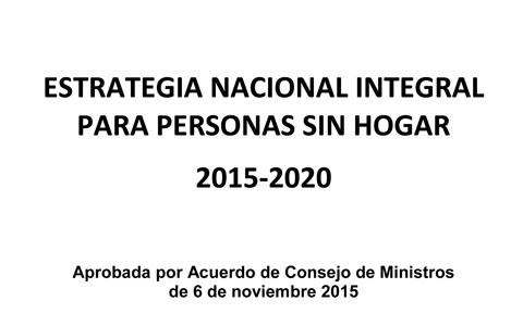 Estrategia Nacional Integral para Personas Sin Hogar 2015-2020